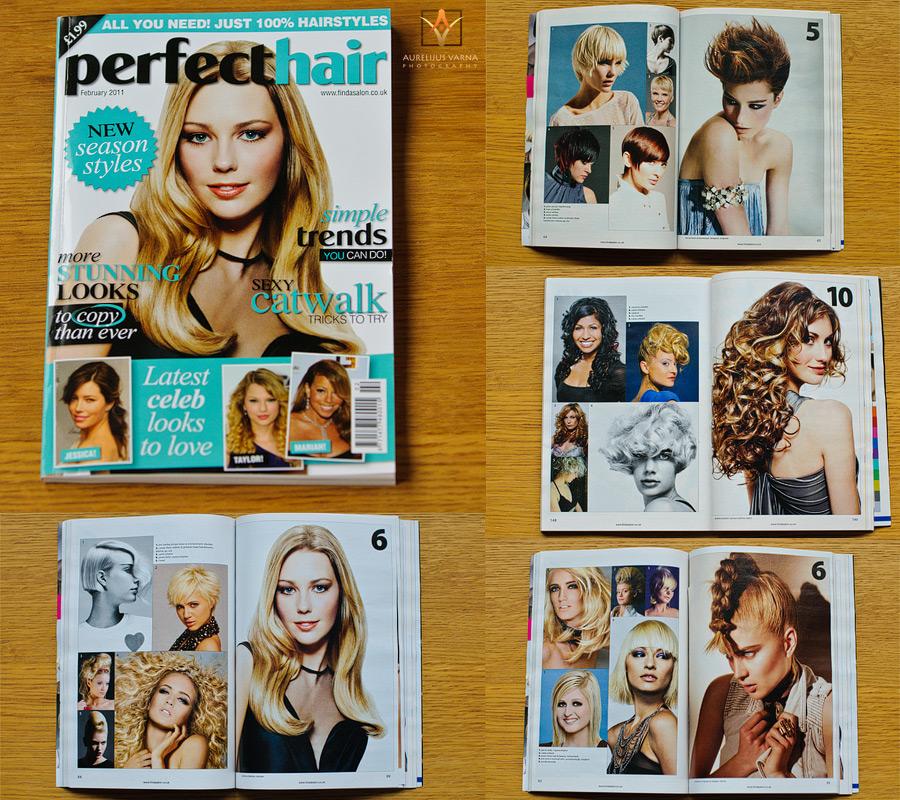 Perfect Hair magazine, fashion photographer london