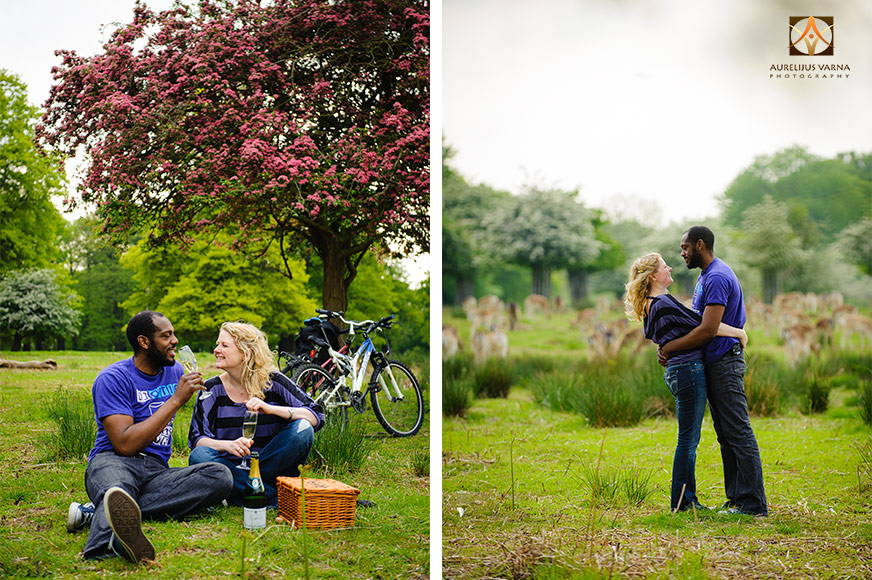 engagement photography in richmond park with deer (5)