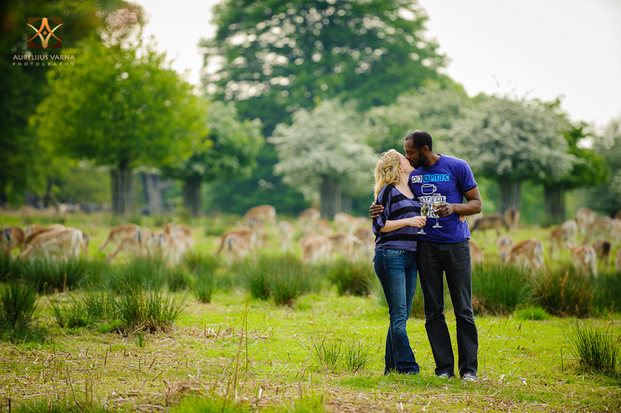 engagement photography in richmond park with deer (2)