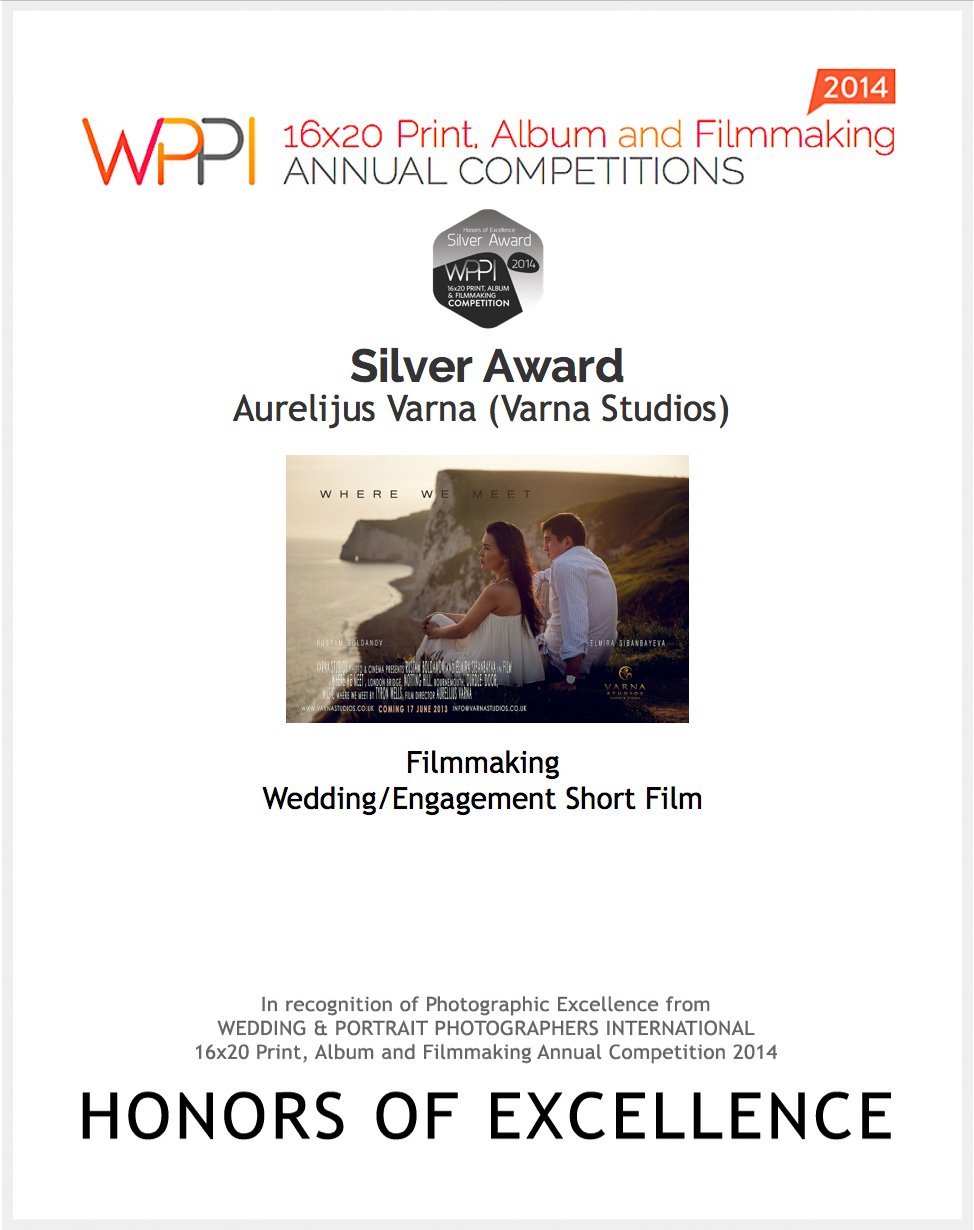wedding photographer videographer award